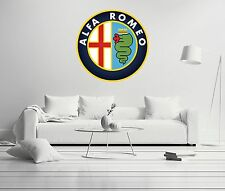Alfa Romeo Shield Cars Company Luxury Wall Decal Decor For Car Home X-Large