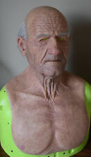 MADE TO ORDER REALISTIC SILICONE OLD MAN MASK WITH HAIR/EYEBROWS/NOSE/EAR HAIR