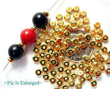 400 Outstanding Gold Flat Spacer Beads 4MM