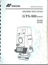 Topcon Total Station GTS-500 Instruction Manual