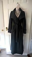 Long Dark Grey Coat by Next, Size 8 but would fit a 10