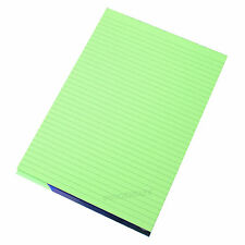 5 x Memory Aid A4 Green 100 Page Paper Notepad Refill Memo Lined Writing Pads