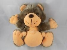 "Fairview Bear Plush w/ Terry Cloth Orange Belly Hands Feet 9.5"" Tall"