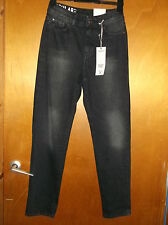 """M&S Regular Fit 100%Cotton Denim Relaxed Skinny Jeans 6 W24""""L31"""" Charcoal BNWT"""