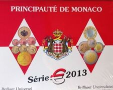 MONACO OFFICIAL BU 2013 5, 88 EURO COIN SET, MINTAGE ONLY 10 000.