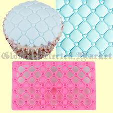 Heart Quilt Fondant Cake Decorating Sugarcraft Embosser Sugarpaste Mould Tool GV