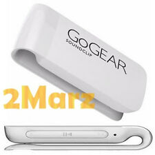 Philips GoGear SoundClip Portable MP3 Players 2GB Music 3.5mm SA4CLP02WN White