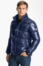$1900 MONCLER Men BLUE DOWN HOODED AUTHENTIC quilted PUFFER JACKET COAT 7 3XL