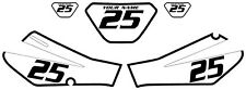 2006-2009 Yamaha TTR250 Pre-Printed White Backgrounds Black Bold Pinstripe