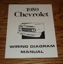 1959 Chevrolet Passenger Car Wiring Diagram Manual 59 Chevy