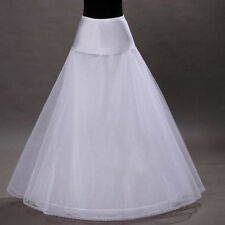 UK STOCK NEW WHITE ONE-HOOP BRIDAL WEDDING GOWN CRINOLINE PETTICOAT UNDERSKIRT