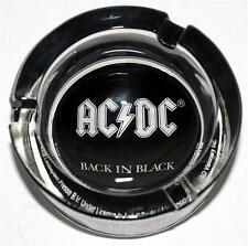 AC/DC AC DC Heavy Metal Rock Band Back In Black GLASS Ash Tray ASHTRAY 3-1/2 New