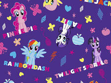 FAT QUARTER  MY LITTLE PONY NAMES MAGIC  FQ COTTON FABRIC SPRING CREATIVE HASBRO