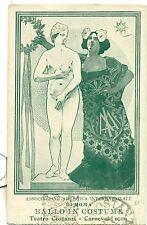 AIA - Ass. Artistica Italiana di G.M. MATALONI con pubblicità Carnevale 1900