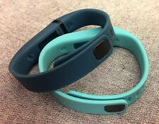 Replacement Large L 1pc Slate 1pc Teal Band + Clasps for Fitbit Flex /NoTracker