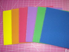 CORRUGATED PAPER LOT colored stack 6x6 card making SCRAPBOOKING ART CRAFT