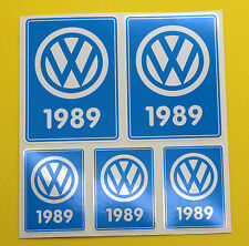 VW 1989 VOLKSWAGEN Year Date stickers INSIDE GLASS BEETLE CAMPER T3 Rabbit