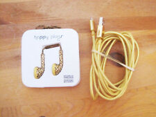 Happy Plugs Lightning USB Charge/Sync Cable & earbuds iPhone,Ipad IPod leopard