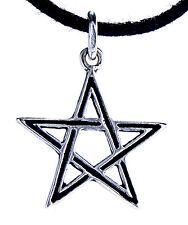 Pentagramm Schutz Magie 925 Sterling Silber Anhänger Pentagram Pentakel klein