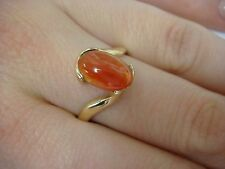 14K YELLOW GOLD MEXICAN FIRE OPAL LADIES RING 3.8 GRAMS SIZE 8