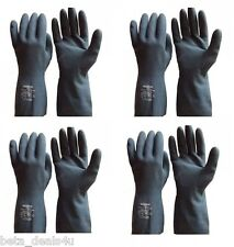 4X SMALL NEOPRENE CHLORINATED FLOCKLINED LATEX BLENDED CHEMICAL RESISTANT GLOVES