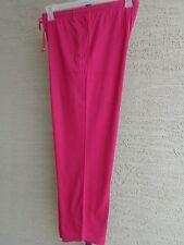 Woman Within Cotton Blend Jersey Sport Elastic Waist Pants 1X 22-24W  Magenta
