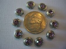 2 Hole Slider Beads Mini Round Light Amethyst Made With Swarovski Elements #10