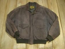 Vintage Leather Bomber Jacket--G-III, 1980's -Brown-Flight-Military-Big M