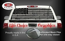American Flag Distressed Black Grey Rear Window Graphic Decal Sticker Truck Car