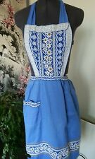 Dirndl Apron - Edelweiss embroidery - with pocket - 100% cotton