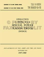 Dodge 1 ton Power Wagon Operation Maintenance Manual 1958 1959 1960 WM300 M601