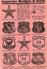 1936 small Print Ad Toy Inspector Badges & Stars Boose Bootleg Moonshine Police
