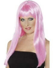 Ladies Mystique Fancy Dress Wig Pink Hen Party Wig by Smiffys New