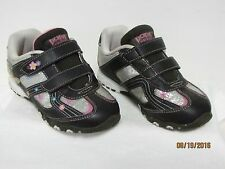 EUC DORA EXPLORER Girls Brown Pink Silver Tennis Shoes Sneakers Touch Strap 11
