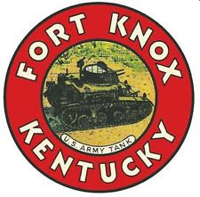 Fort Knox KY Kentucky Gold  Vintage -Looking Travel Decal  Luggage Label Sticker