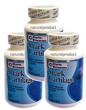 3 Shark Cartilage 750mg capsules Defense System Cartilago de Tiburon Made in USA