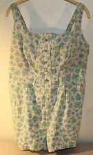 Vintage 1950's Shape Lee Swimsuit Swim Playsuit 46 Large Worn