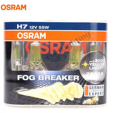 OSRAM H7 12V 55W 2600K Fog Breaker Super Yellow Light Car Halogen Bulbs 62210FBR