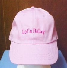 Let's Relay For Life Hat Cancer Awareness Pink Baseball Cap ACS Event New