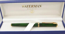 WATERMAN PREFACE GREEN  MARBLE & GOLD 18K GOLD MED PT FOUNTAIN PEN NEW IN BOX