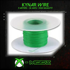 KYNAR WIRE - GREEN - 5 Meters / 15 Feet - Xbox Wii PS3 360 Mod Modding Wrapping