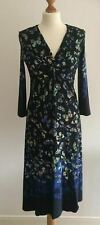 LADIES M&S PER UNA NAVY BUTTERFLY  PRINT JERSEY DRESS SIZE 12 EUR 40