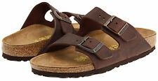 *NEW* ARIZONA 42 N SIZE 9-9.5 US MEN {HABANA} MEN'S LEATHER SANDALS BIRKENSTOCK