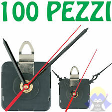 100 MECCANISMI per OROLOGI da PARETE Movimento LANCETTE Filetto DECOUPAGE Kit