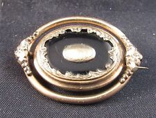 Antique Victorian mourning pin brooch 10k gold
