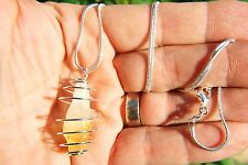 """CUTE Brazilian Baby Citrine Crystal Point Perfect Pendant™ 26"""" 925 Silver Chain"""