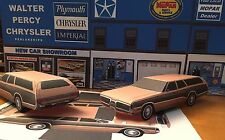 Papercraft 1972 Plymouth Sport Suburban wagon Paper Car EZU-MakeIt Toy Model Car