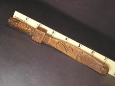 c1831 /32 A Carved Bird Folk Art Treen Knitting Stick Wooden Sheath
