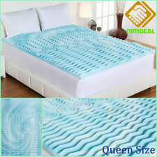 Queen Mattress Topper Gel Memory Foam Pad Comfort Orthopedic Bed Cover Firm 3""