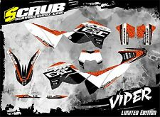 SCRUB KTM graphics kit EXC 125 250 300 450 530 decals 2008 2009 2010 2011 08-11